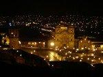 Vue de Cuzco de nuit depuis notre hôtel