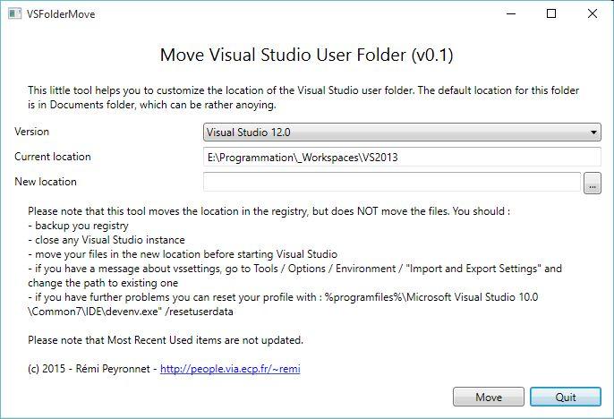 VSFolderMove Screenshot