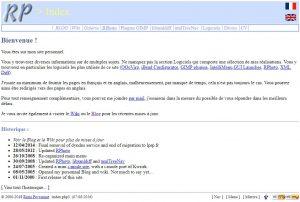 Site Web 2001 – 2018