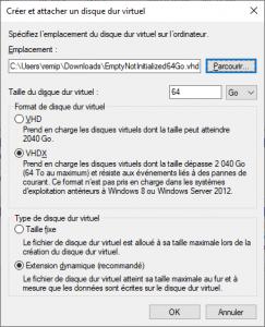 Read more about the article Création de disques virtuels sous Windows